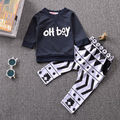 2017 Autumn baby boy clothes set fashion cotton long-sleeved letter oh boy T-shirt+ Pants 2PCS newborn baby boy clothing set