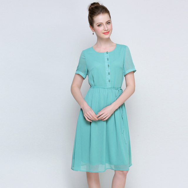 Solid colored dresses for plus size women