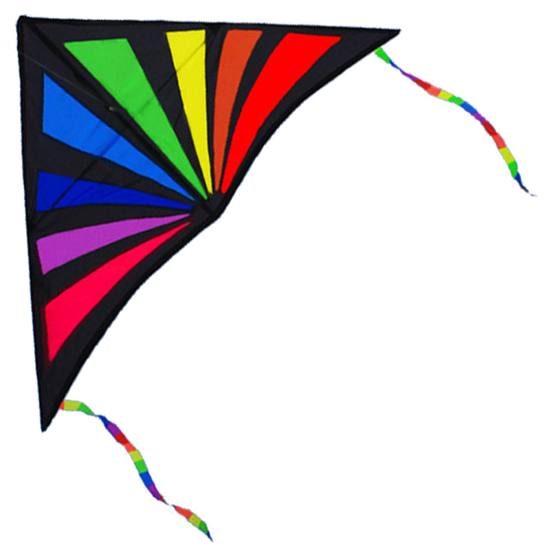 Hot Sale NYHET Outdoor Fun Rainbow Triangle Sport Kite / Kids Kites With Handle Line Hög kvalitet Bra Flying