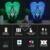 HY Asas Do Crânio 3D Controle Remoto Luz CONDUZIDA Da Noite candeeiro de Mesa de Toque Desk Lamp 7 Alterar Cor LED USB Carregador Multifunções Presente cartão