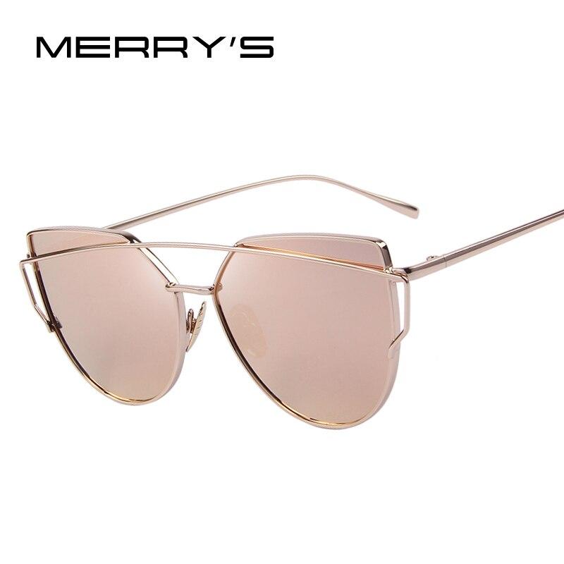 MERRYS Moda Olho de Gato Mulheres óculos de Sol Da Marca Clássico Designer  de Twin- 0c330aaacf