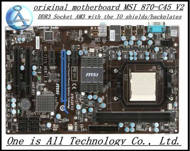 Free shipping original font b motherboard b font for MSI 870 C45 V2 DDR3 Socket AM3