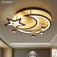 Новый Дизайн акриловые современные светодиодные светильники потолочные moonstar форма для жизни StudyRoom Спальня лампе плафон украшения дома све