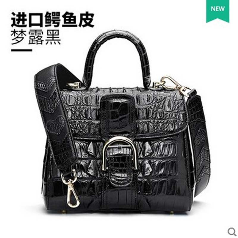 hlt Thai crocodile skin women handbag female dermal personality trend small square bag 2017 new single shoulder crossbody bag dadi1 dadi hlt 102