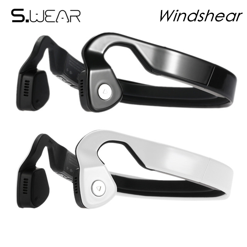 Hot Selling WindShear Bone Conduction Bluetooth Stereo Headset Sports Wireless Headphones with mic with Retail box Free Shipping s wear bluetooth 4 0 wireless headset sports bone conduction earphone headphones ear hook stereo with mic with box