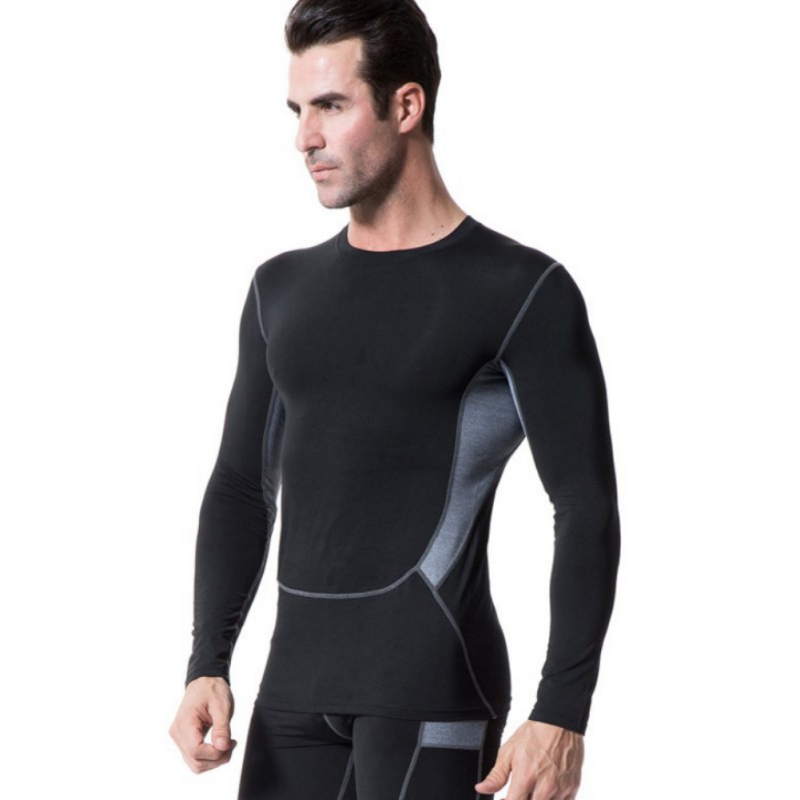 9f0c5af1f91 Men s Compression Base Layer Sports Wear Long Sleeve T Shirts Athletic Tops  Gear-in Trainning   Exercise T-shirts from Sports   Entertainment on ...