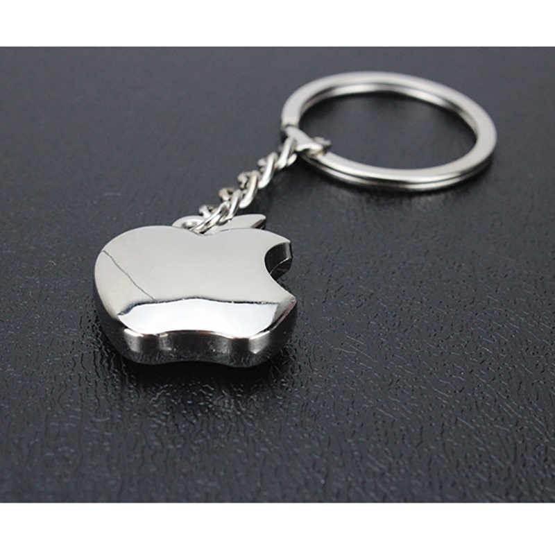 جديد وصول الجدة تذكارية المعادن أبل مفتاح سلسلة الهدايا الإبداعية أبل المفاتيح حلقة رئيسية حلية سيارة حلقة رئيسية حلقة مفتاح السيارة