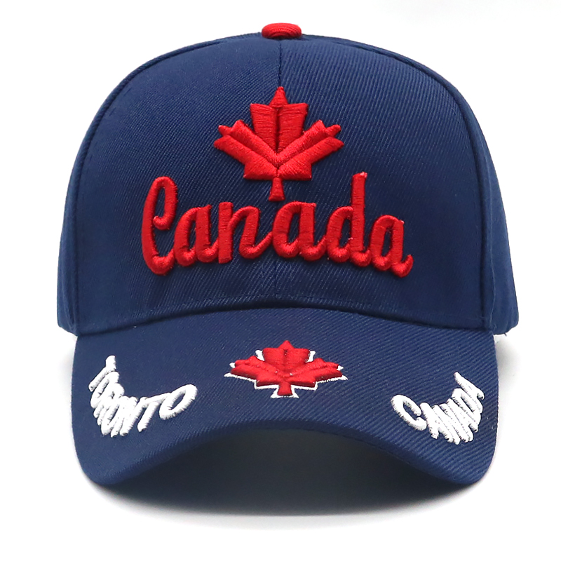 Canada with Maple Leaf Embroidered Low Cap