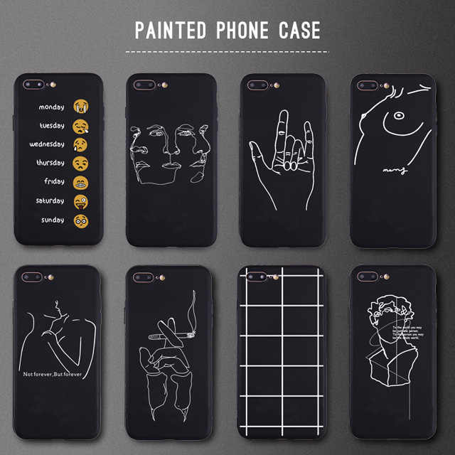 Patterned Smoking Hand Soft Silicon Case For Apple iphone 6 6s Plus X 7 8 Plus 5s SE XS Max XR Phone Cover Funy Case