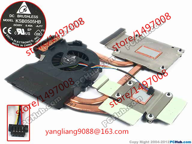 Delta 666391-001 KSB0505HB AJ77 DC 5V 0.40A 4-wire Heat sink fan free shipping for delta ffr1212dhe sp02 dc 12v 6 3a 120x120x38mm 4 wire car booster fan