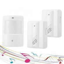 Wireless Infrared Sensor Chime Alarm Doorbell 1 Outdoor Unit 2 Indoor Units White waterproof smart door bell motion sensor bell недорого