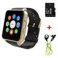 Gt88 bluetooth smart watch impermeables del ritmo cardíaco del monitor de la cámara del tf/tarjeta sim smartwatch para android ios smartphone nfc