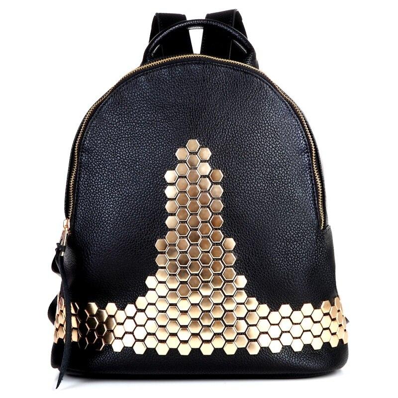 2016 New Fashion Women Leather Casual Backpack High Quality font b Women s b font School