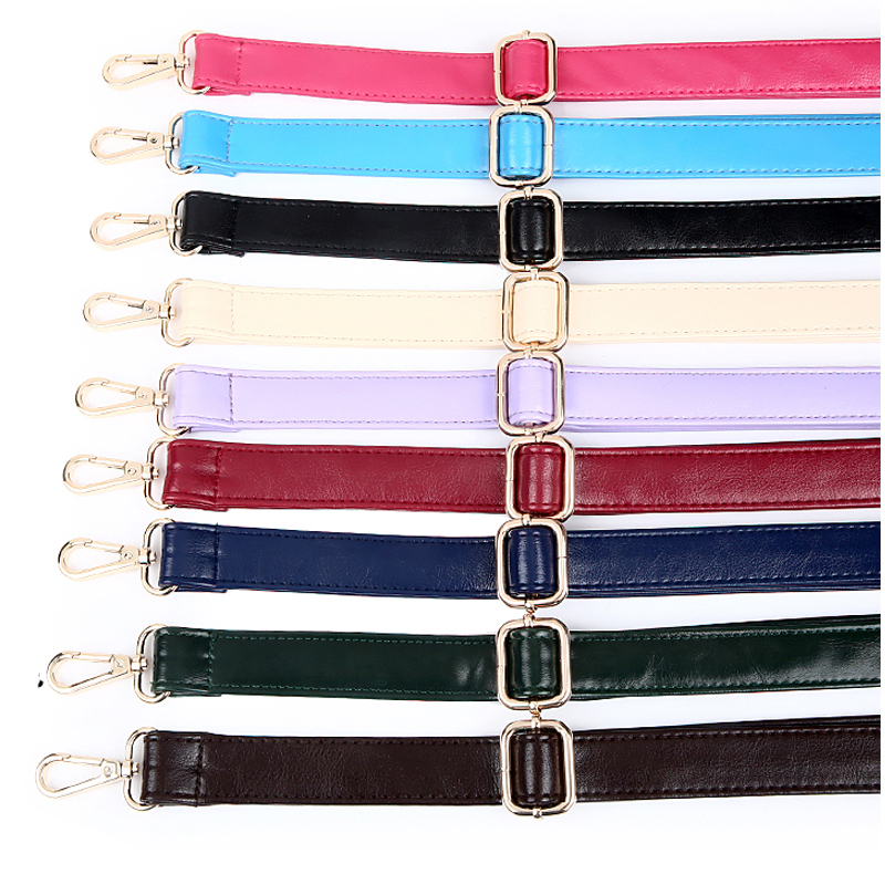 4 Metal Colors! Adjustable Replacement Oil PU Leather Shoulder Straps for Bags Purses Handbags Accessories DIY Colorful PU Belt