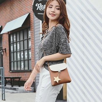 New Fashion Mini Crossbody Women Handbag Star Pattern Small Leather Change Coin Bag Shoulder Pouch for Teenage Girls Kids 1