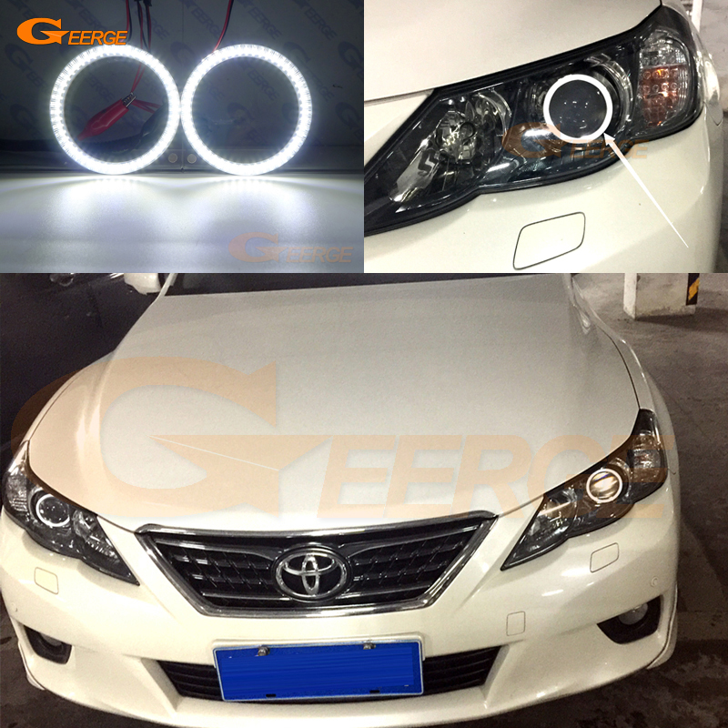For Toyota Mark X Reiz 2010 2011 2012 smd led Angel Eyes kit Day Light Excellent Ultra bright illumination DRL