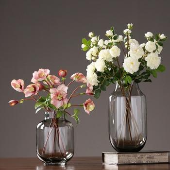 Modern glass vase terrarium glass containers crafts flower vase home decoration flowerpot vases for centerpieces for weddings
