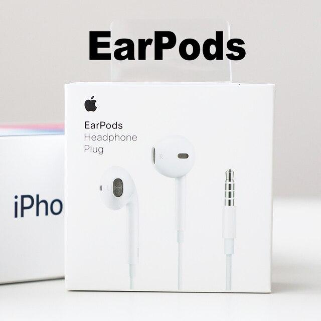 Oryginalny Apple słuchawki douszne z 3.5mm wtyczką. In-ear słuchawki do iPhone'a z mikrofonem rosyjski magazyn prosty/opakowania detalicznego