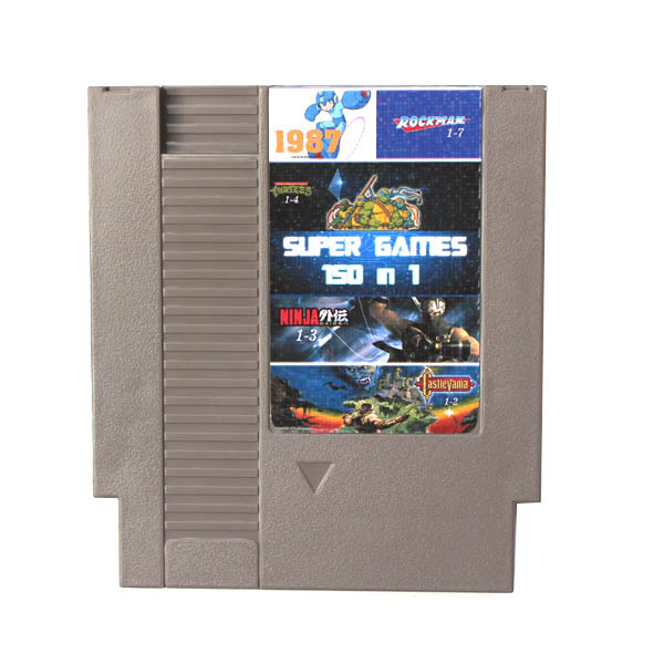 Top quality 72 Pins 8 bit Game Cartridge <font><b>150</b></font> <font><b>in</b></font> <font><b>1</b></font> with game NINJA TURTLES Contra Kirby's Adventure Rockman <font><b>1</b></font> 2 3 4 5 6 image