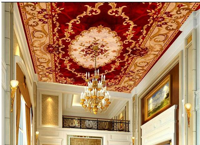 Buy 3d wall murals wallpaper europe style for Ceiling wallpaper