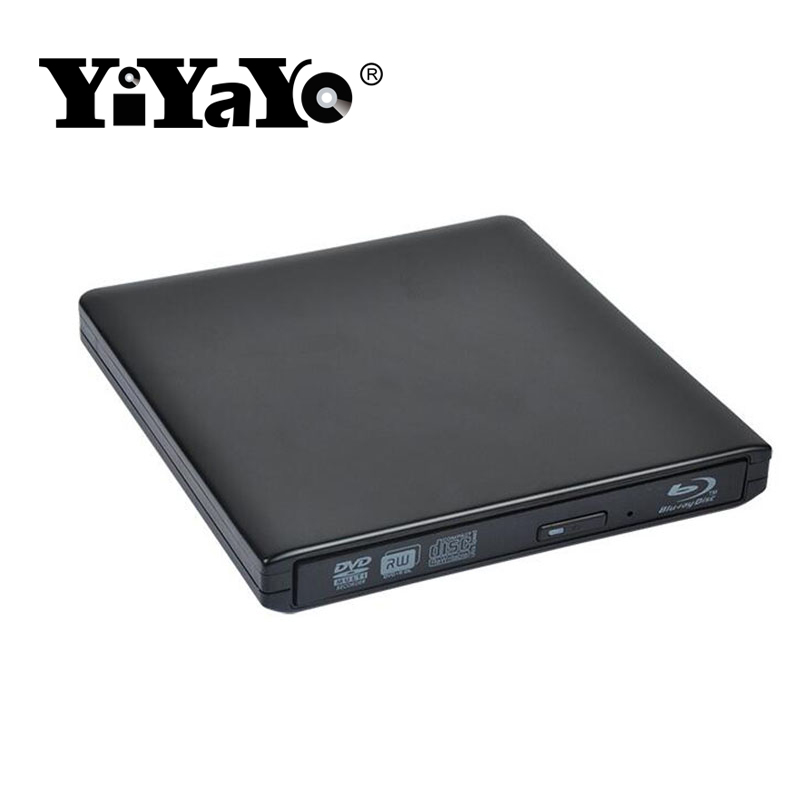 YiYaYo USB 3.0 Bluray External Optical Drive BD-ROM Player DVD-ROM 3D Player CD/DVD RW Burner Read Laptop for Windows 10/7/8 totem niveau 3 methode de francais b1 dvd rom