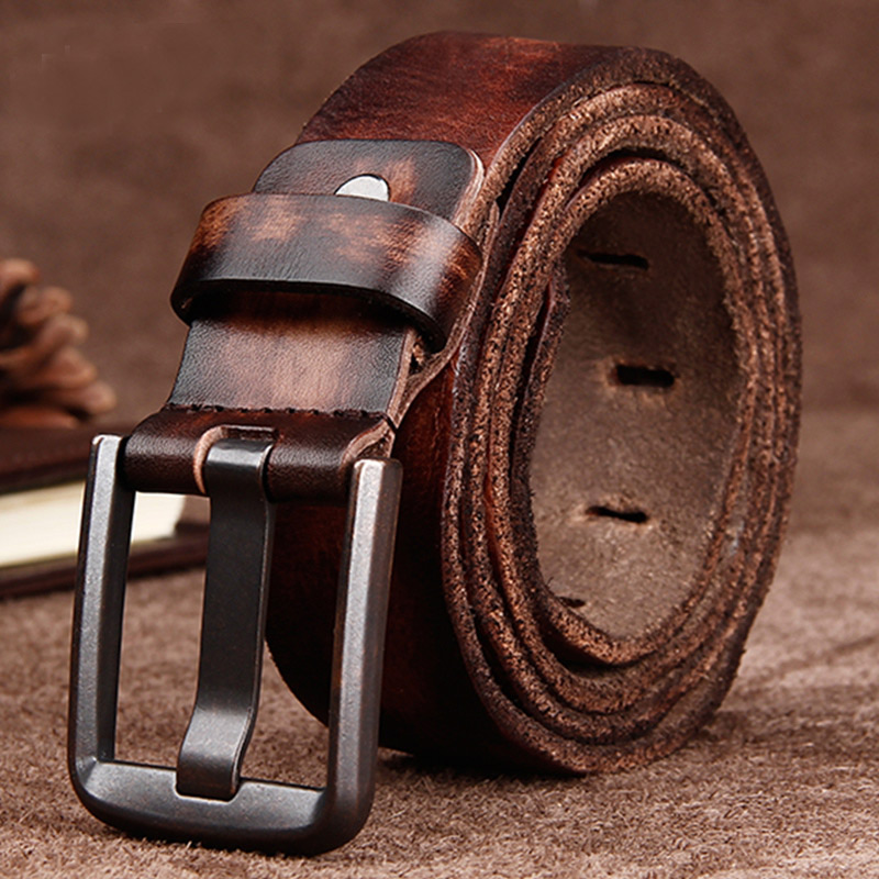 genuine leather   belts   for mens Buckle personality fashion design   belt   high quality High quality unique matching jeans   belt
