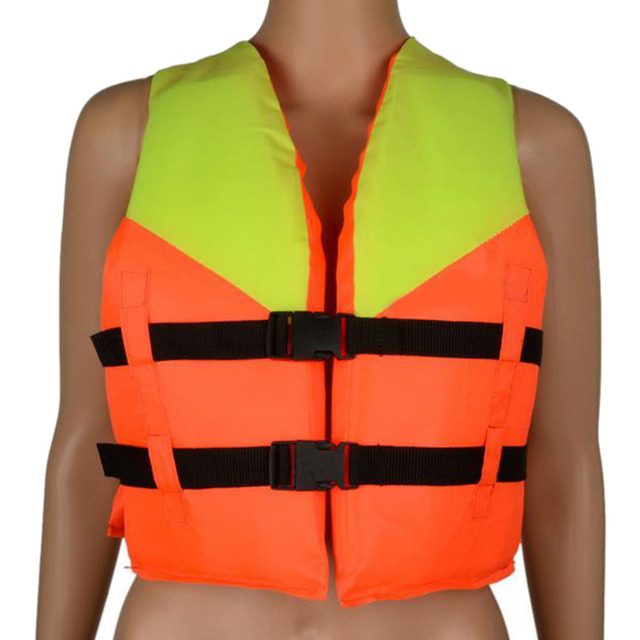 Orange Prevention Flood Fishing Rafting Drift Youth Kids Universal Polyester Life Jacket Swimming Boating Ski Adult Foam Vest