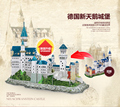 CubicFun 3D puzzle pepar model MC062H Germany Neuschwanstein Castle  Model  for christmas birthday gift with LED L174H