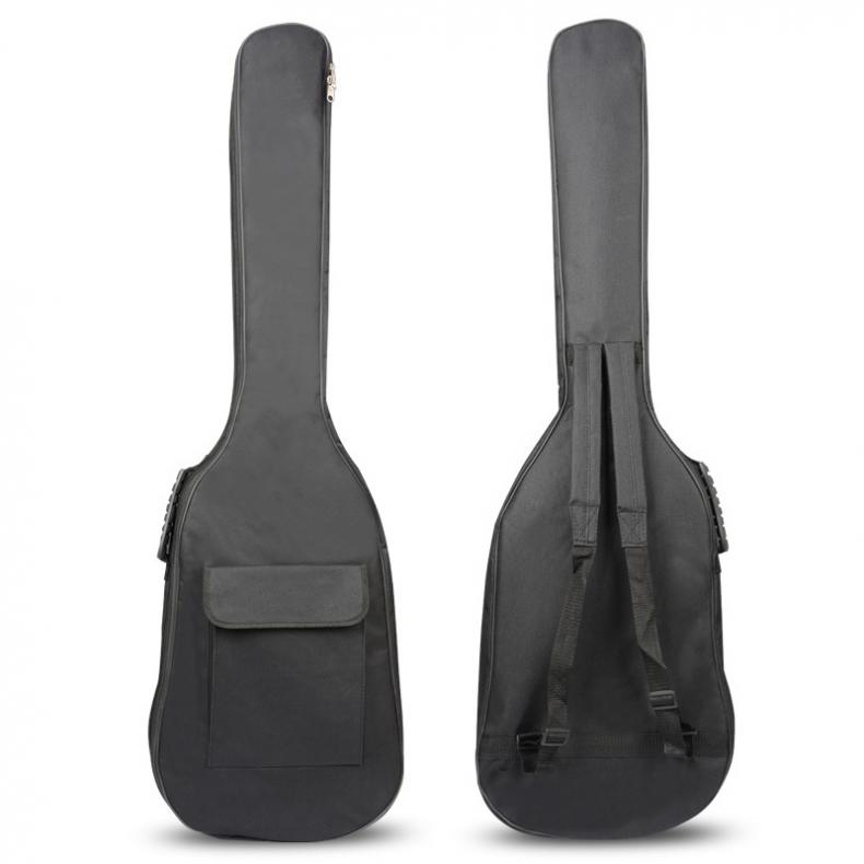 600D 5mm Thick Cotton Double Shoulder Backpack Padded Electric Bass Bag Soft Case Waterproof Bag