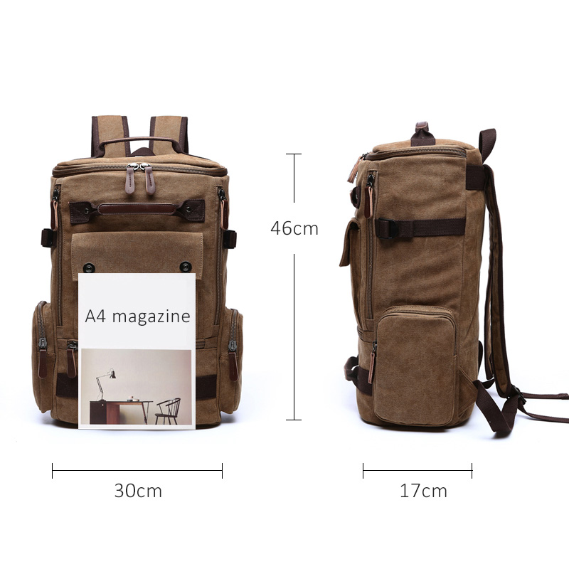 Мужской рюкзак, винтажный холщовый рюкзак, школьная сумка, мужские дорожные сумки, Большой Вместительный рюкзак, рюкзак для ноутбука, сумка ...