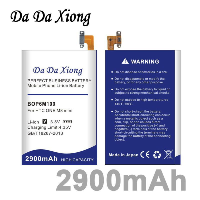 imágenes para Da Da Xiong 2900 mAh Li-ion Batería Del Teléfono para HTC Uno Mini 2 mini2 BOP6M100/One mini M8 M8mini