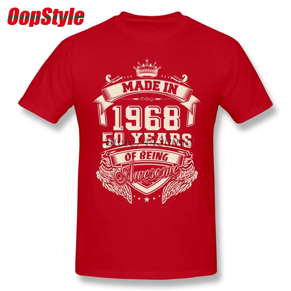 0e5cd9393 [BIG SALE] CHEAP Made In 1968 50 Years Of Being Awesome T Shirt Custom  Short Sleeve T-shirt Men Hip Hop Family 3XL Cotton Crewneck Men's Shirts ...