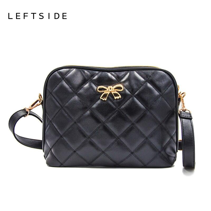 New 2017 Black Bow Plaid Fashion Women CrossBody Bag Female Shoulder Bags Party Purse clutch Small Bag Women Messenger Bags