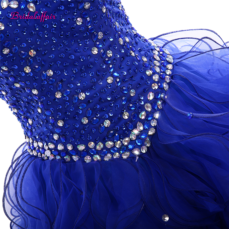 Romantic Blue Quinceanera Dresses 2019 Beadings Crystal Tulle Dresses 15 year old Debutante Sweetheart neck Vestidos De 15 Anos in Quinceanera Dresses from Weddings Events