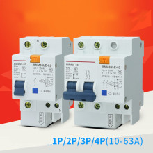 Switch Circuit Breaker Four Line Electric Leakage Protect Organ Moulded Case 6A 10A 20A 25A 32A 40A 50A 63A 1P 2P 3P 4P DZ47LE chnt dz47le 4p 10a 16a 20a 25a 32a 40a 50a 60a residual current circuit breaker rcbo