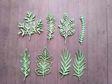 Adv-one 8pc Pine Leaves Green plant Metal Dies Cutting Scrapbooking Craft Die Cuts Stamp Embossing Decorate Paper Card Stencil