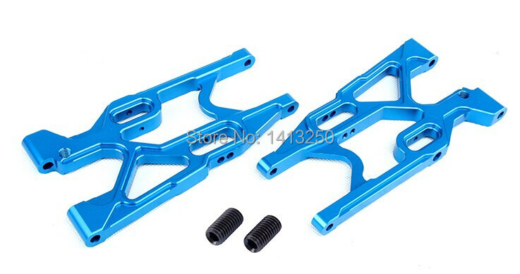 LOSI 5T Spare parts, CNC front lower suspension set for LOSI 5IVE-T  silver / blue can choose billet rear hub carriers for losi 5ive t