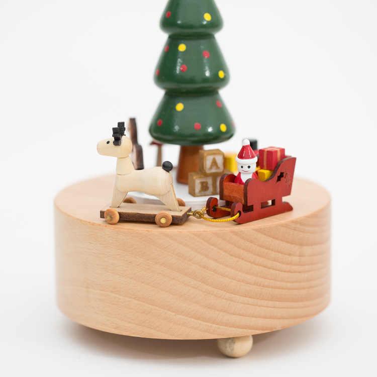Vòng Tay Quà Tặng Giáng Sinh Cây Âm Nhạc Hộp Hộp Nhạc Gỗ Gỗ Thủ Công Retro Món Quà Sinh Nhật Vintage Trang Trí Nhà Phụ Kiện