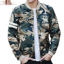 SeaSunLand Camouflage Jacke Mantel Männer Kleidung Fashion Bomber Jacke Mann Stil Baseball Mann Windjacke Camo Jacken Mäntel