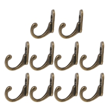 Hangers Entryway-Hooks Screws Wall-Mounted Double-Coat Vintage with 10PCS Bronze High-Quality