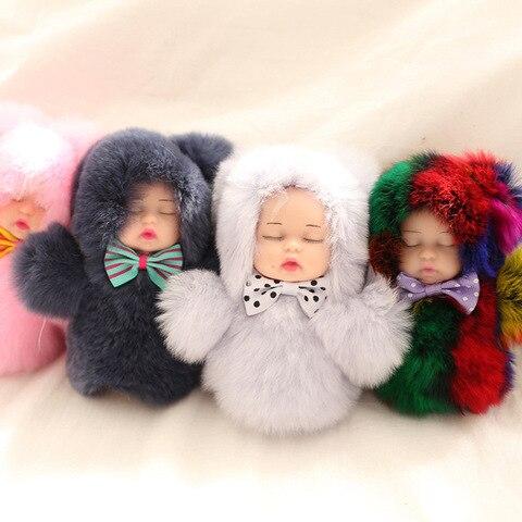 novo mini bola pompom de pelucia boneca bonito do bebe moda criancas bonecos de pelucia