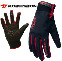ROBESBON Bike Glove Full Finger Black waterproof Bike Cycling Gloves Man Women Long Mountain Biking Gloves Motorcycle Gloves