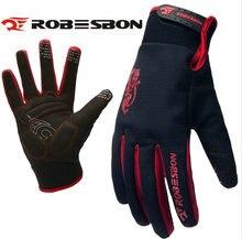 ROBESBON HOT Bike Glove Full Finger Black waterproof Bike Cycling Gloves Man Women Long Mountain Biking