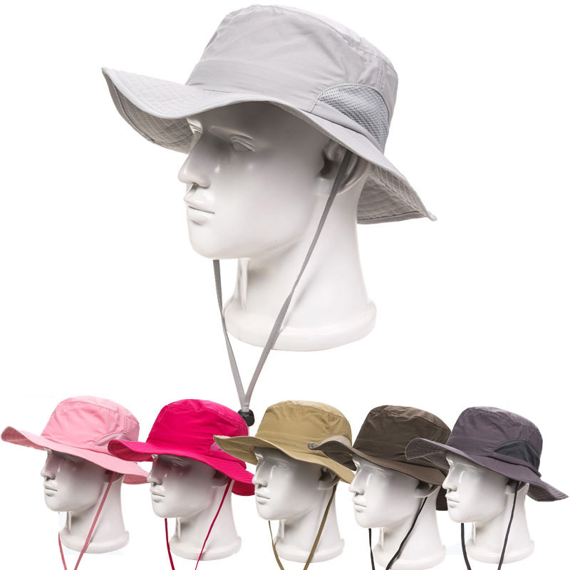 Outdoor Quick Dry Fishing Hat for Men Women Summer Pesca Bob Chapeau Bucket  Hats Brand New Sun Protection Boonie Cap-in Bucket Hats from Apparel  Accessories ... 2e6f091e02a