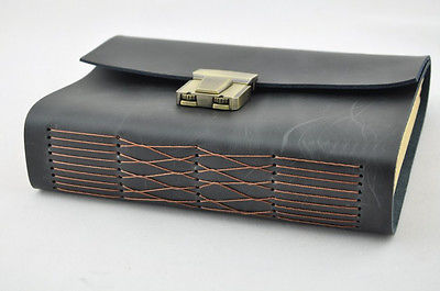 Genuine leather Journal thick secret diary with lock and password code 18CM*13CM*4.5CM my secret place a gorjuss guided journal hb