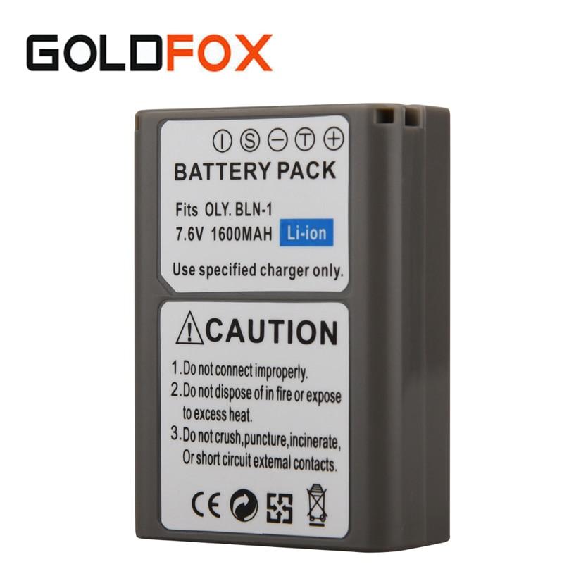 7.6 v 1600 mah Batterie Li-ion Rechargeable BLN-1 PS-BLN1 BLN1 Pour EM5/E-M5/OM-D Appareil Photo Numérique Remplacement Batteria sauvegarde Bateria