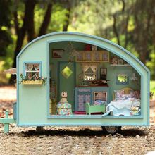 Small DIY Wooden Doll House Miniature Dollhouse Assemble Handmade Furniture Kit Doll House for Children Birthday Toy Collection(China)