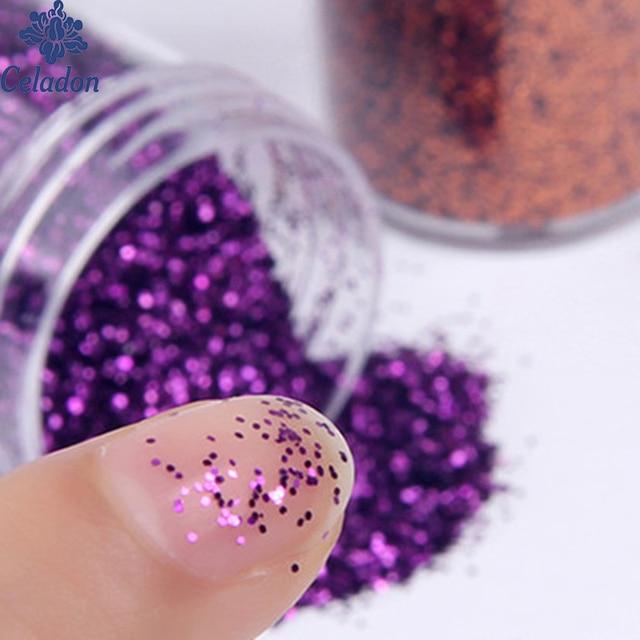13g Nail Art Glitter Powder Sequins Super Makeup Glitter Powder 3d