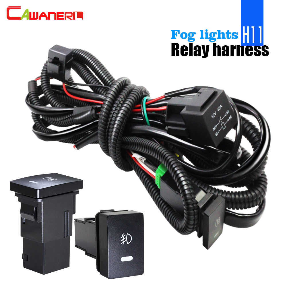 small resolution of cawanerl fog light wiring harness h11 socket wire switch with led indicator at relay for
