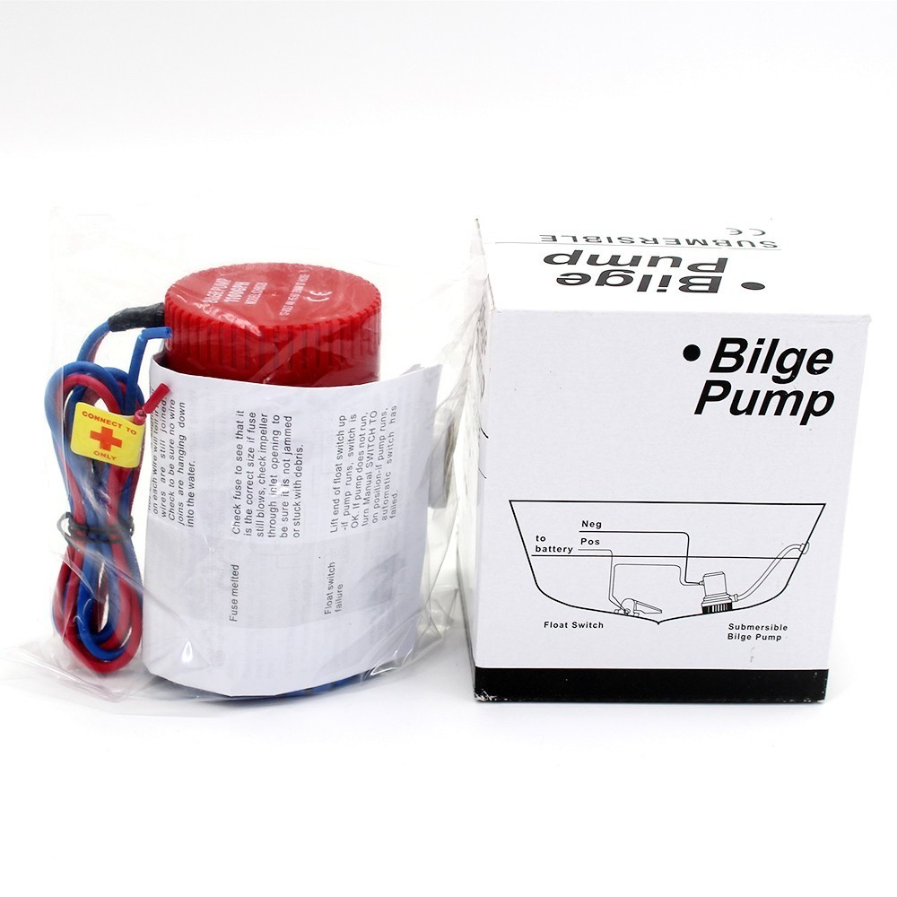 750gph Mini Boat Bilge Pump 12v 12 V 24v Kayak Rule Water Wiring Electric Dc 750 Gph Volt Manual Marine Pressure In Pumps From Home Improvement On